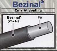 1/4 Inch (in) Size Bezinal® Coated Steel Strand Wire