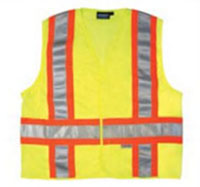 Class II Lime Vest with Silver Tape