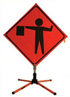 48 Inch (in) Mesh (Flagger Head) Bone Safety Sign