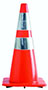 28 Inch (in) Size Traffic Cone with 2 Reflective Collars