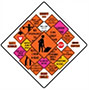48 Inch (in) Mesh (Flagger Symbolic) Bone Safety Sign